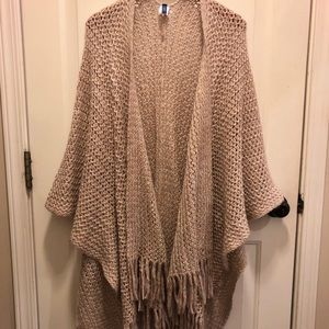 Apt 9 Dusty Rose Shawl - M/L